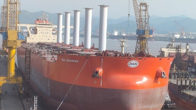 Vale Tests Flettner Rotor Wind Power on Giant Ore Carrier