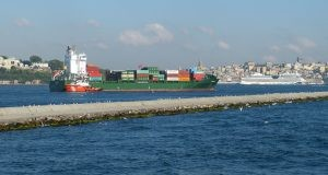 Boxship Fully Operational After Allision with Shore Pier in Bosphorus