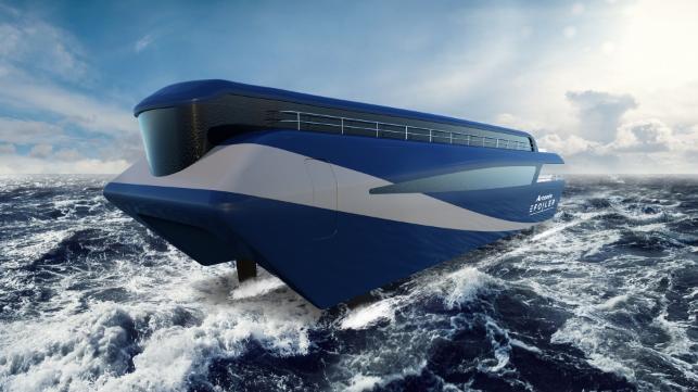 Competing High-Speed Catamaran Electric Ferries