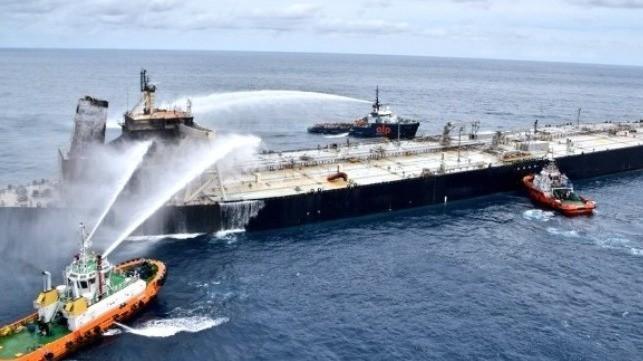 Fire Extinguished on VLCC New Diamond Drifting off Sri Lanka