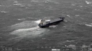 Cargo Ship Runs Aground off Scottish Coast